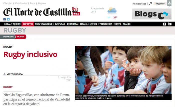 El Norte de Castilla - Rugby inclusivo